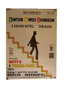 Linton Kwesi Johnson Poster LKJ Berlin Showcase