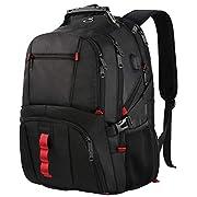 #LightningDeal TSA Laptop Backpack,Large Capacity Travel Computer Laptop Backpack for Men Women with Organizer Pocket USB Port,Water Repellent Big Casual Work School Bookbag Fit 17Inch Notebook,Blue