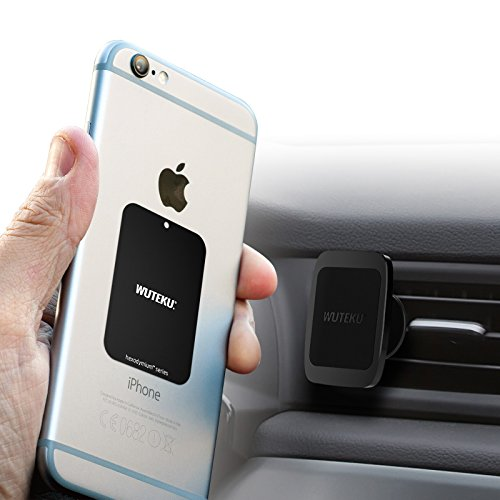 Wuteku Magnetic Cell Phone Vent Holder Kit For Car UPDATE | Works on All Vehicles, Phones & Tablets | Best Vent Mount | Suitable for Any Phone iPhone X, 8, 7 & Galaxy S9, S8 by Uber Driver by Wuteku