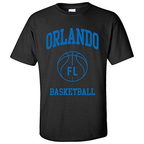 UGP Campus Apparel Orlando Classic Basketball Arch Basic Cotton T-Shirt - Small - - Orlando Magic T-shirt