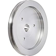 March Performance 531 Clear Powdercoat Aluminum 1-Groove Press Fit Power Steering Pulley