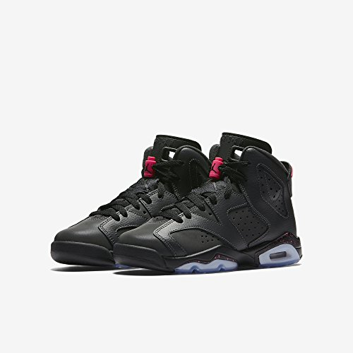 Jordan Nike Kids Air 6 Retro Gg Antracite / Nero / Nero Scarpa Da Basket 5.5 Bambini Noi
