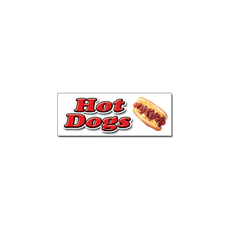 12 HOT DOG DECAL sticker hot dogs cart