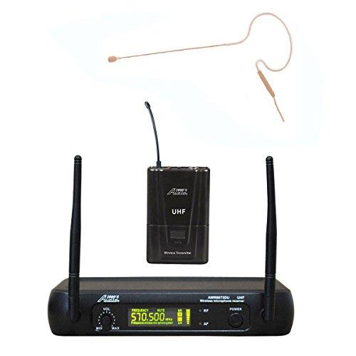 Audio 2000s 6073U630 Mini Headset Single Channel UHF Wireless Microphone