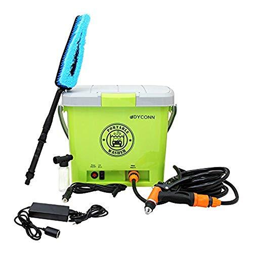 Dyconn Faucet HPPWS-12V Portable Pressure Washer System for Car Wash, 12-volt, Green (Pressure 110v Washers)
