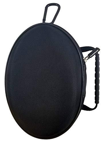 CASEBUDi Oval Hard Shell Headphone Carrying Case | for Beats and Similar Folding Headphones | Black Ballistic Nylon