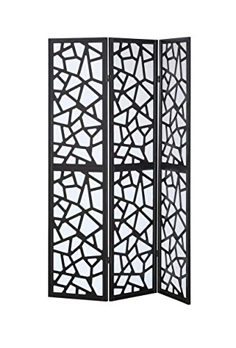 Giantex 3 Panel Folding Privacy Screen Room Divider Shoji Screen with Cracks PatternLiving Room Bedroom Furniture -