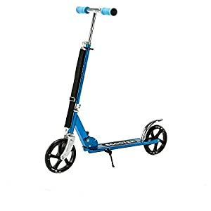 Blue exercise scooter folding outdoor kid adult ride sport kick scooter 2 wheels
