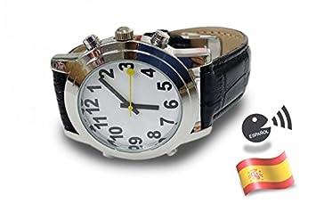 Reloj Cromax Correa Piel -Parlante Español Ciegos/Baja Vision: Amazon.es: Electrónica