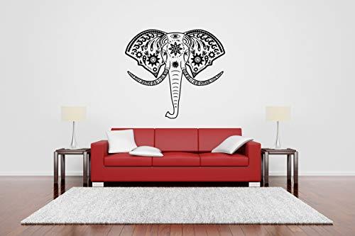 - Vinyl Sticker Elephant Head Ornament Animal Africa Wild Creature Forest Jungle Zoo Kids Room Baby Nursery Mural Decal Wall Art Decor SA2407