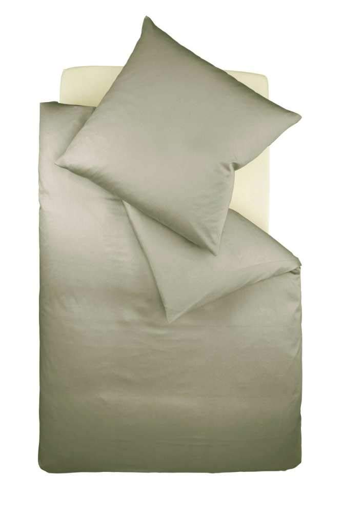 Fleuresse Colours Interlock Bettwäscheset, Jersey, grau, 38.4 x 28 x 4.4 cm, 2-Einheiten
