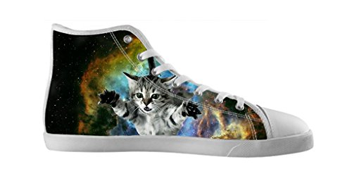 Dalliy Galaxie Katze Galaxy Cat Mens Canvas shoes Schuhe Lace-up High-top Footwear Sneakers Segeltuchschuhe A