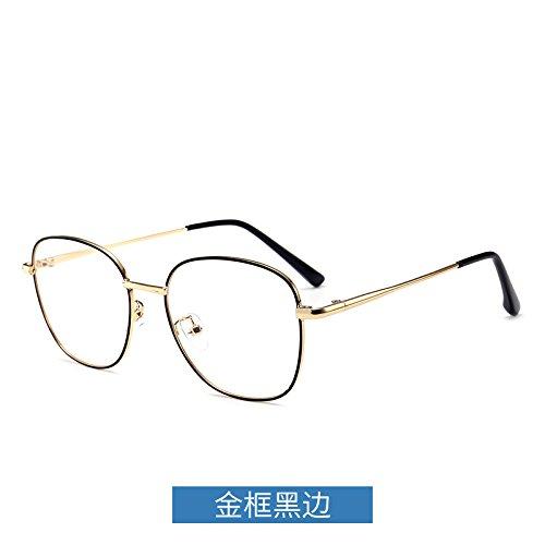 ojos radiaciones negro Frame protección Gafas los dorado espejo gafas Gold plano borde de espectáculo y las marco metal equipo Edge marco flat contra azules KOMNY Black pTqw8g1w