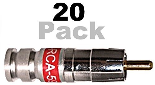 PCT RCA 59 Connector Universal Compression Fittings (20 Pack) - cableTVamps®