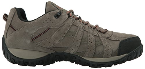 Columbia Redmond Leather Omni-Tech, Stivali da Escursionismo Uomo Beige (Mud/ Sanguine)