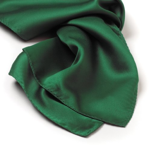 Solid Series Rectangular Silk Scarf - Kelly Green (Scarf Stretch Silk)
