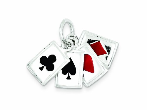 Sterling Silver Playing Card - Finejewelers Sterling Silver Enameled Playing Cards Charm