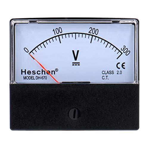 Heschen Rechthoekige Voltmeter Analoog Paneel Volt Voltage Meter 670 stijl DC 0300V Klasse 20