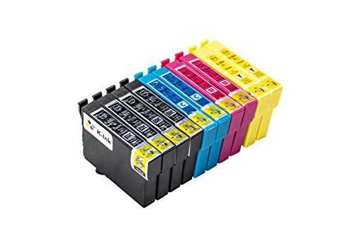 Epson 200 200XL Ink Cartridges for High Yield Compatible Replacement by K-Ink (10 Pack - 4 Black, 2 Cyan, 2 Magenta, 2 Yellow) (Ink Cartridges Epson 200xl)
