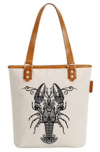 Geometric Canvas Pearly Top Womens Shoulder Lobster Bag Handle Tote Soeach w7qUtt