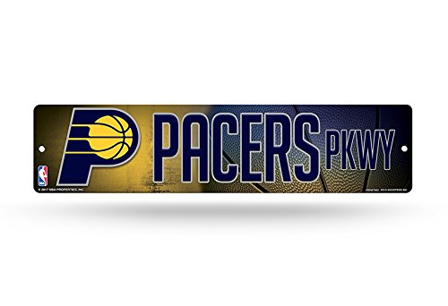 Rico Industries NBA Indiana Pacers Plastic Street Sign Decor, 16