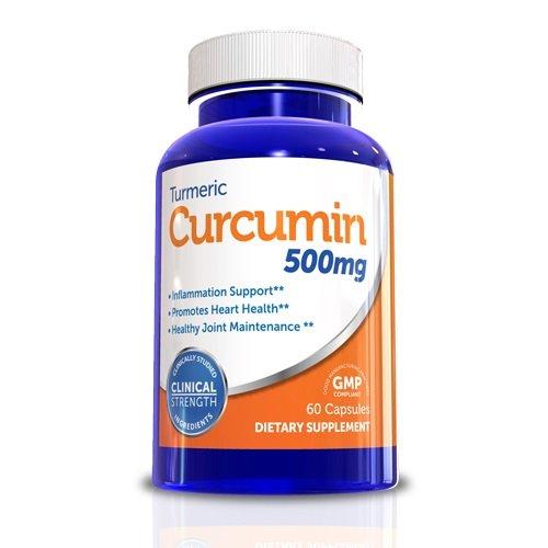 Curcuma curcumine-Puissant antioxydant, 60 capsules, 500 mg, une dose, Système Boost Immunity, aide à réduire Courbatures, fatigue, nausées, tant pour les hommes santé et la santé des femmes