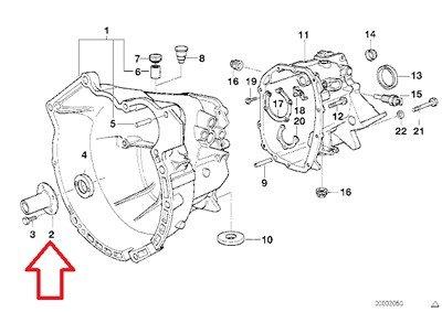 BMW Genuine Guide Sleeve - Clutch Release Bearing for 525i 318i 318is 318ti 320i 323i 325i 325is 525i 320i 323Ci 323i 325Ci 325i Z4 2.5i Z3 1.9 Z3 2.5 Z3 2.5i