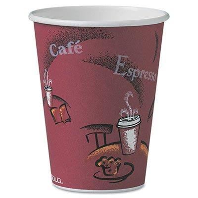 SOLO Cup Company 370SI Bistro Design Hot Drink Cups- Paper- 10 oz.- 1000/Carton