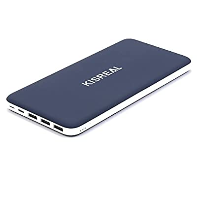 Kisreal 26800mAh Power Bank Portable Charger External Battery Pack 3 Port Input & 3 Usb Output (Type-C 2A Input iSmart Technology Li-polymer Battery) for iPhone 6 6S Plus iPad Samsung Galaxy from KISREAL