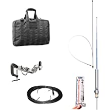 Super Antenna MP1DXR HF Portable SuperWhip All Band MP1 Antenna with Clamp Mount and Go Bag ham radio amateur