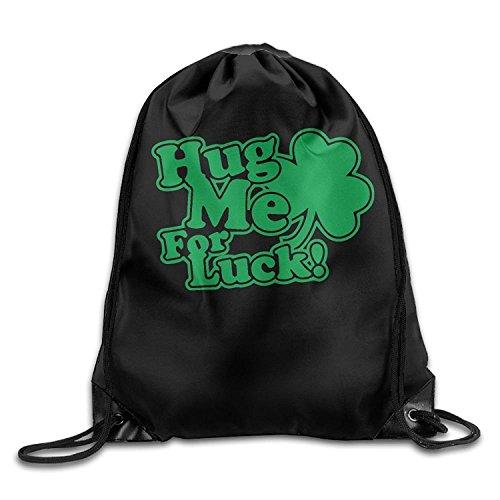 Doormat bag Hug Me - Bolsa de felpudos con Cordón para la Suerte, Bolso de Hombro, Bolso de Boca para Hombres y Mujeres
