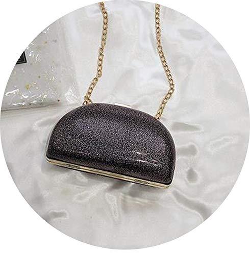 Simple Sequined Patent Leather Design Women Party Clutch Bag Crossbody Mini Bag Shoulder Bag Female Bolsa Handbag Chain Purse,Purple