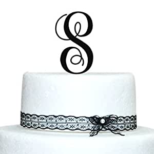 wedding cake topper monogram initials buythrow personalized monogram initial cake 26358