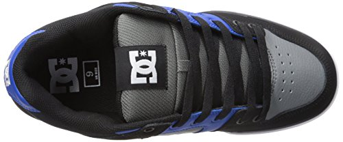 DC Shoes Men's Pure Slim Skateboarding Shoe Noir/bleu/gris VMafJD