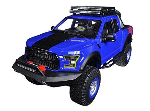 New 1:24 W/B SPECIAL TRUCKS EDITION - BLUE 2017 FORD RAPTOR Diecast Model Car By Maisto