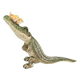 "Fiddlehead hadas pueblo–Alligator w/2pájaros 7,5""L"