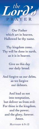 (Bookmark - General -The Lords Prayer... - KJV Scripture - (Pack of 25))