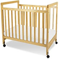 Foundations SafetyCraft Compact Size Clearview Crib, Natural