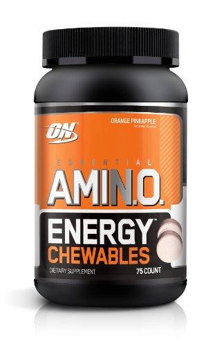 Optimum Nutrition Amino Essential Energy Diet Comprimés à croquer supplément, ananas orange, 25 Count