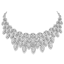 34.65ct 18k White Gold Diamond Necklace