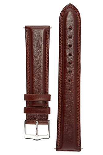 signature-favourite-in-coffee-18-mm-short-watch-band-replacement-watch-strap-genuine-leather-silver-