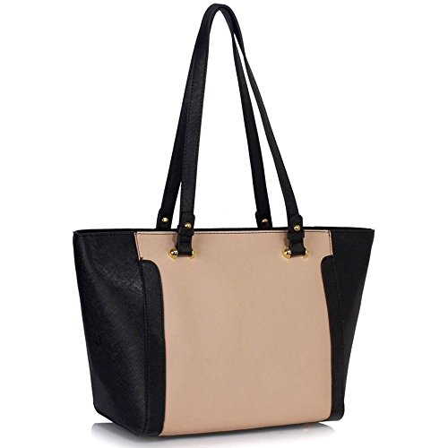 Shoulder Ladies Bag 350 Women A4 Shoulder Sale Black Shopper Clearance Tote Bag Ladies For Designer Handbag Style Fashion LeahWard Bags Nude Celeb qfvt1gq