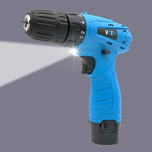 Random Color Delivery Hand Tools Toos Accessory 12V Stepless Speed Regulation Rechargeable Hand Drill Set Electric Drill Power Tools with LED Light AC 220V US Plug