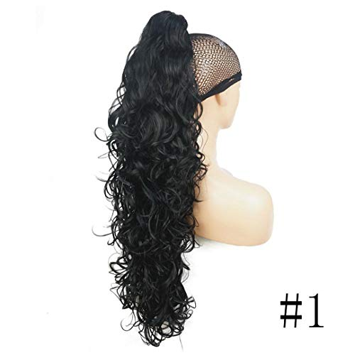 (Long Curly Claw Clip Ponytail Hairpiece Hair Extensions 32 Inch Synthetic Heat Resistant Fiber 1 32Inches)