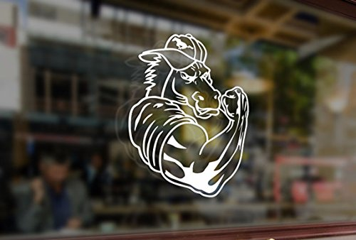 25cm Horse Mustang Force Power Boost Vinyl Stickers Funny Decals Bumper Car Auto Computer Laptop Wall Window Glass Skateboard Snowboard Helmet by Bananasticker (Image #3)