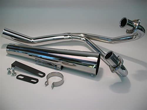 Kawasaki GPZ 305 83-85 2-Into-1 Black,Chrome Megaphone Exhaust System 802-1203 by Niche Cycle Supply