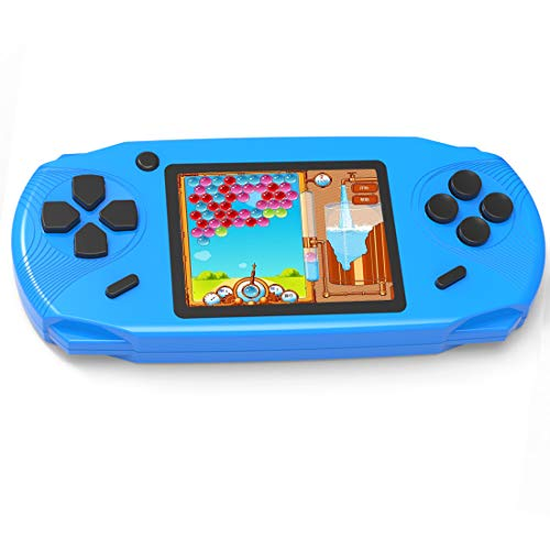 Beijue 16 Bit Handheld Games for Kids Adults 3.0'' Large Screen Preloaded 100 HD Modern Video Games Seniors Electronic Game Player for Boys Girls Birthday Xmas Present (Blue) ()