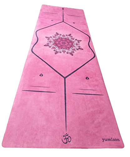 Yumison Enterprises, LLC Natural Rubber Eco-friendly Skid-resistant Printed Hot Yoga Mat 4 mm (Pink)