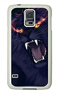 Angry Lion White Hard Case Cover Skin For Samsung Galaxy S5 I9600