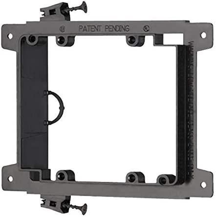 Arlington LVS2 Screw On Double Gang Low Voltage Mounting Bracket for Wire Cable